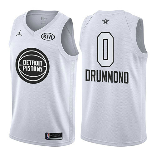 Camiseta Andre Drummond 0 All Star 2018 Blanco Hombre
