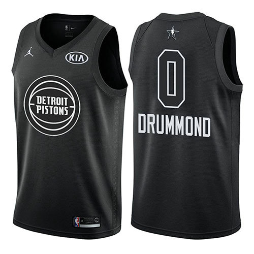 Camiseta Andre Drummond 0 All Star 2018 Negro Hombre