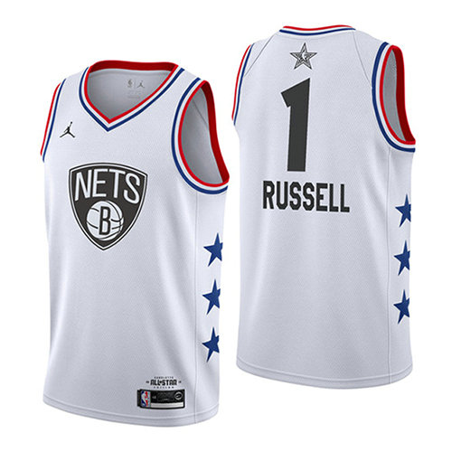 Camiseta Dangelo Russell 1 All Star 2019 Blanco Hombre
