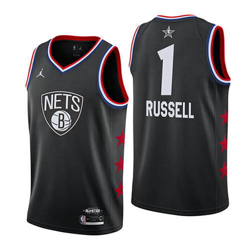 Camiseta Dangelo Russell 1 All Star 2019 Negro Hombre