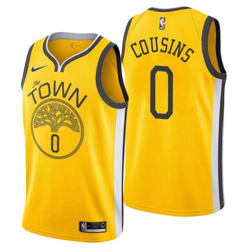 Camiseta DeMarcus Cousins 0 Golden State Warriors earned 2018-19 amarillo Hombre