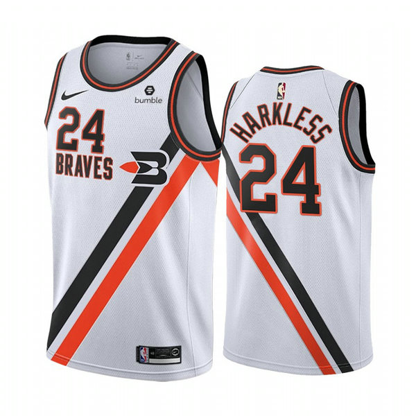 Camiseta Maurice Harkless 24 Los Angeles Clippers 2020-21 Temporada Statement Bianca Hombre