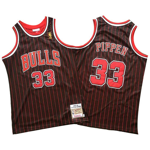 Camiseta Scottie Pippen 33 Chicago Bulls Mitchell & Ness Negro Hombre